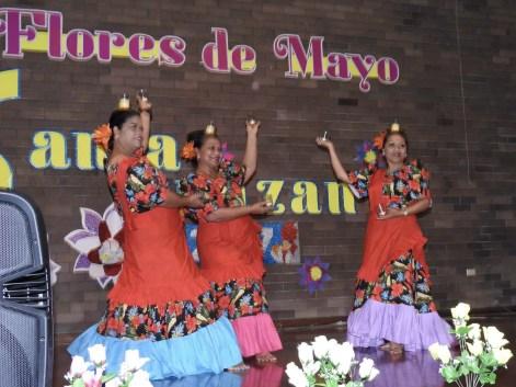 Filipinas Dancers L-R Dian Ford, Emma Braceros and Juliet Vella dancing the Pandango Sa Pag Ibig.