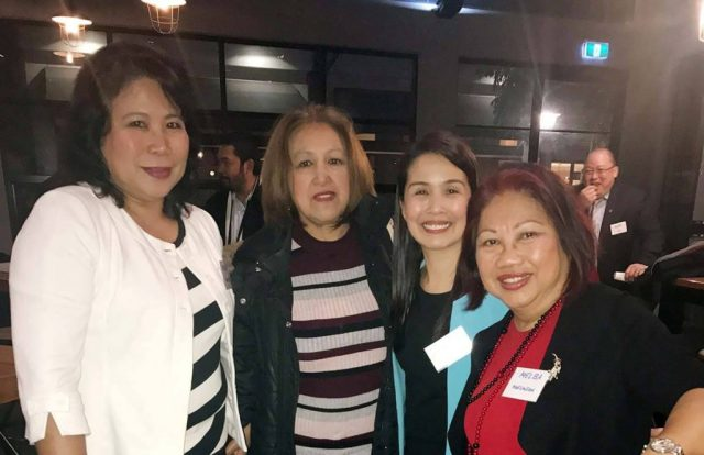 From left: Melba Waugh, Lulu Lorenzo, Norjamin Delos Reyes, Philippine Tourism Attaché in Australia and New Zealand, and Melba Marginson.