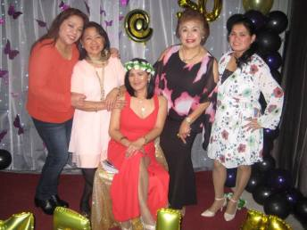 Imelda Egan with friends at her 50th birthday party