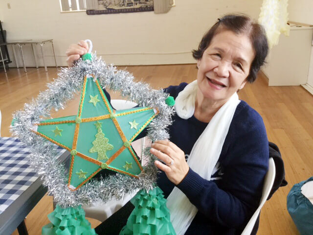 Anita Seplala is pleased to display her parol.
