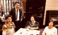 With Consul Marford Angeles, Linda Gaa and her sister.