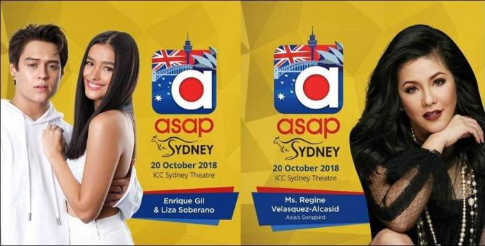 ASAP in Sydney - Enrique Gil, Lisa Soberano and Regine Velasquez
