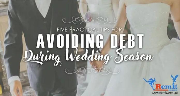 Avoiding wedding debt