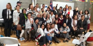 Members of the Filipino Community Council of Victoria Inc during the special election on 26 May 2019. | Photo credit: Gemma Mendonez
