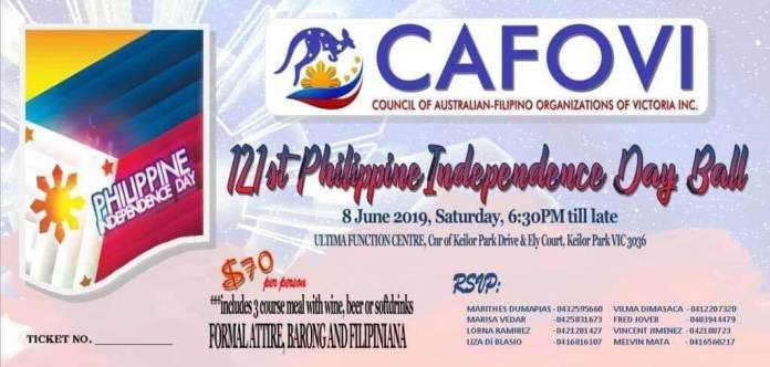 121st Philippine Independence Day Ball CAFOVI