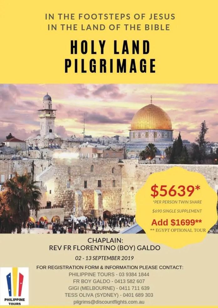 Holy Land Pilgrimage 2019