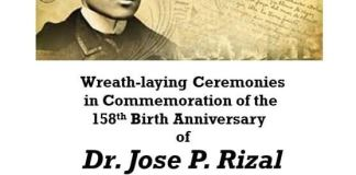 Wreath laying 150th birth anniversary of Dr Jose Rizal