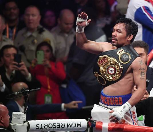 40-year-old Pacquiao takes WBA super welterweight belt from undefeated Thurman