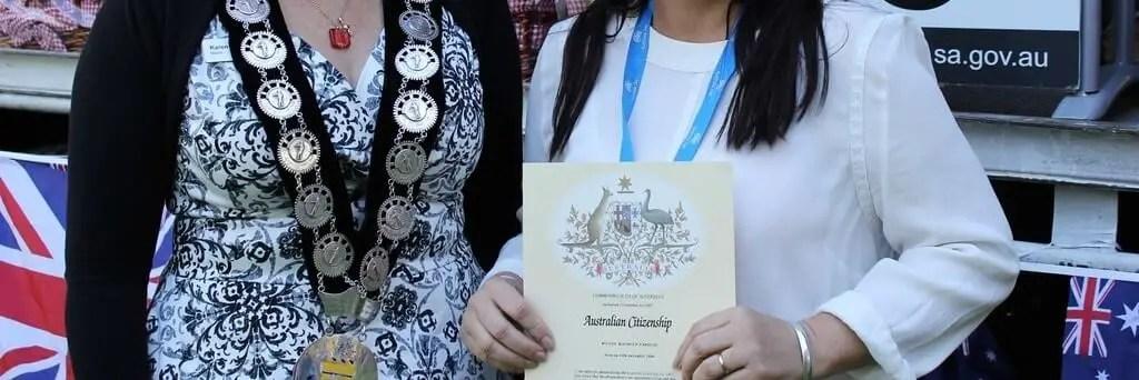 Australian citizenship oath-taking