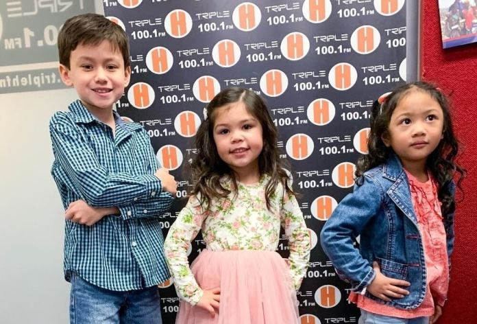 RG mini models at Triple H radio: Cameron Marsh, Maria Hall and Layla David