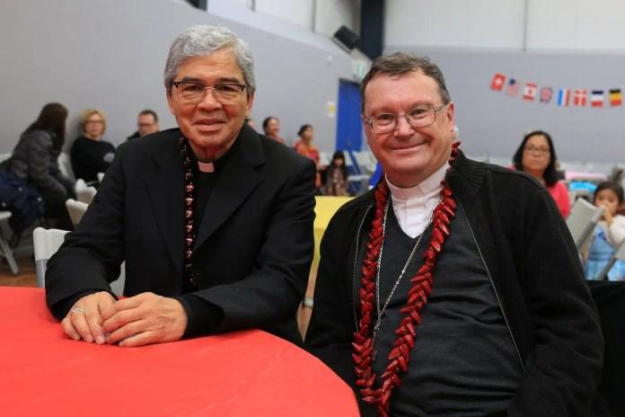 Apostolic Nuncio Dr Adolfo Tito Yllana with Bishop of Sale, Patrick O'Regan | Photo: Sophy Morley via Facebook