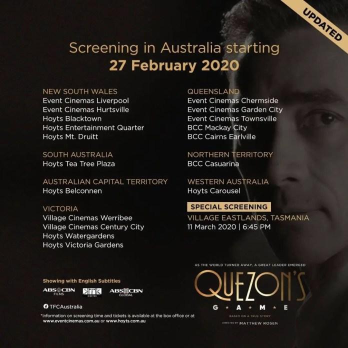 Quezon's Game Screening