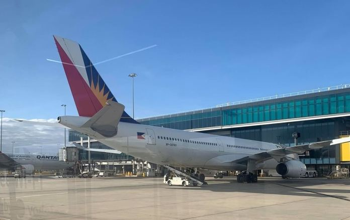 PAL at Melbourne Airport tarmac | Photo: Gayzha Davao