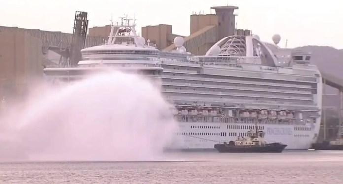 Ruby Princess cruise ship | Photo: Channel 9 News screenshot