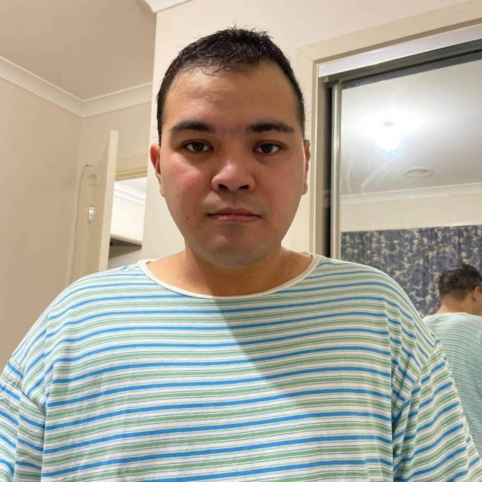 Denis loses weight after being discharged from the hospital