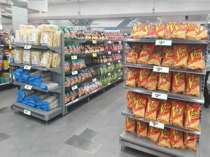 Filipino product range in Woolworths supermarket in Sydney | Photo from PTIC Sydney