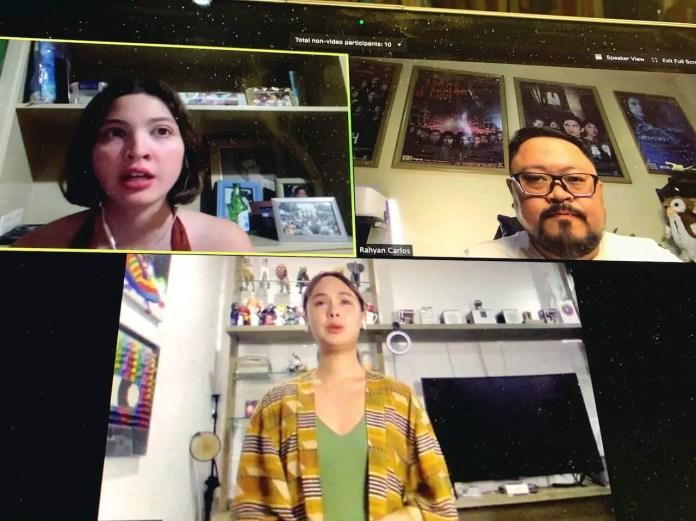 Teaching Ara Dabao and Kyla Estrada Online Acting Class