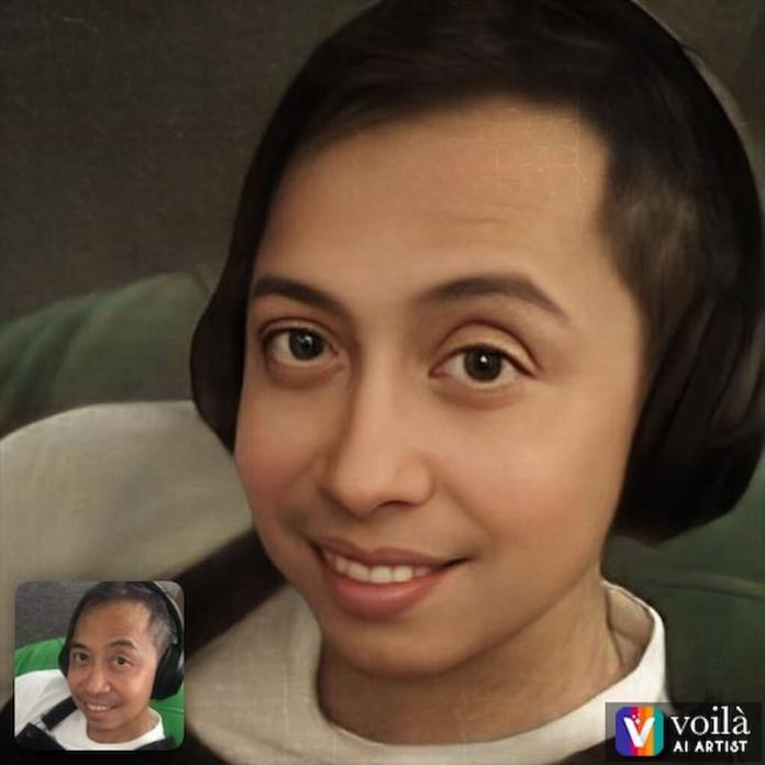 Chito Javier's version of 3D cartoon made using the Voila app
