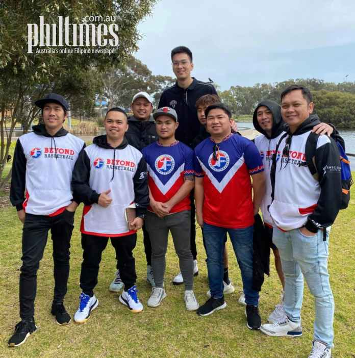 Local Filipino basketballers Adelaide meet with Kai Sotto