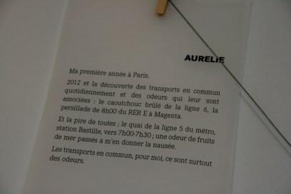 Le métro selon Aurélie. © Annie Welter