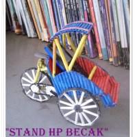 STAND HP BECAK dari Kertas Koran