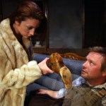 Gina Martino (Shelly) and Luke Moyer (Bradley) in Iron Age Theatre's BURIED CHILD (Photo credit: Randall Wise)