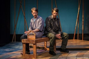 Ahren Potratz and Allen Radway in Simpatico Theatre Project's production of IN A DARK DARK HOUSE by Neil LaBute. Photo credit: by Daniel Kontz.