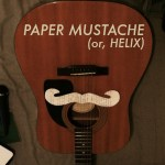 Paper Mustache (Or, Helix) by James Haro
