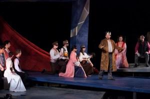 The ensemble of Delaware Shakespeare Festival's HAMLET (Photo credit: Alessandra Nicole)