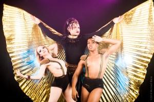 Aurora Black, Erik Ransom, and Avery Royal in Libertine Idol's COMING in FringeNYC (Photo credit: Michael Blase)