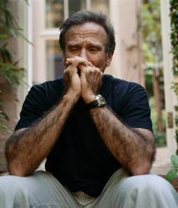 Robin Williams grieving