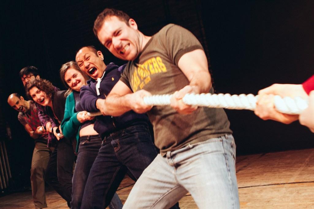 Aram Aghazarian, Mark McCloughan, Melissa Krodman, , Jenna Horton, Makoto Hirano, and Benjamin Camp in THE SINCERITY PROJECT.