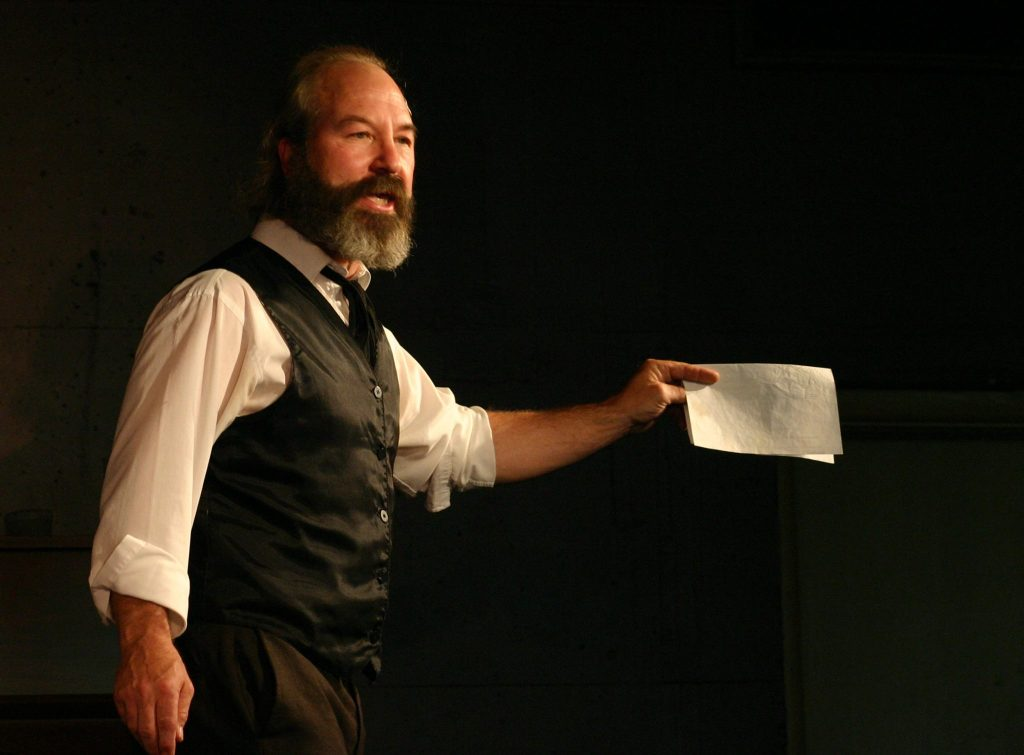 Bob Weick stars as Howard Zinn in VOICES OF A PEOPLE'S HISTORY OF THE UNITED STATES.
