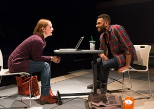 Julianna Zinkel as Raina Lamott and Biko Eisen-Martin as Jarell Hayes. Photo by Mark Garvin.