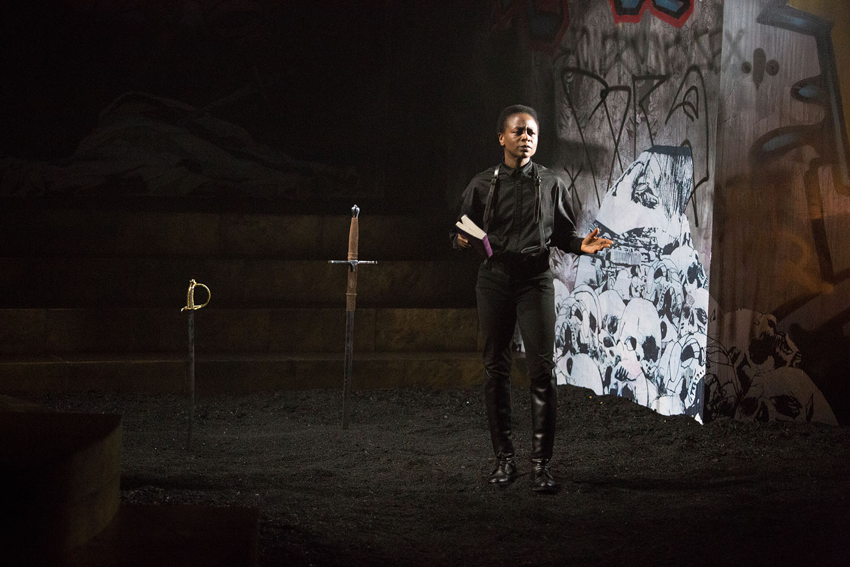 Zainab Jah as Hamlet. Photo by Alexander Iziliaev.