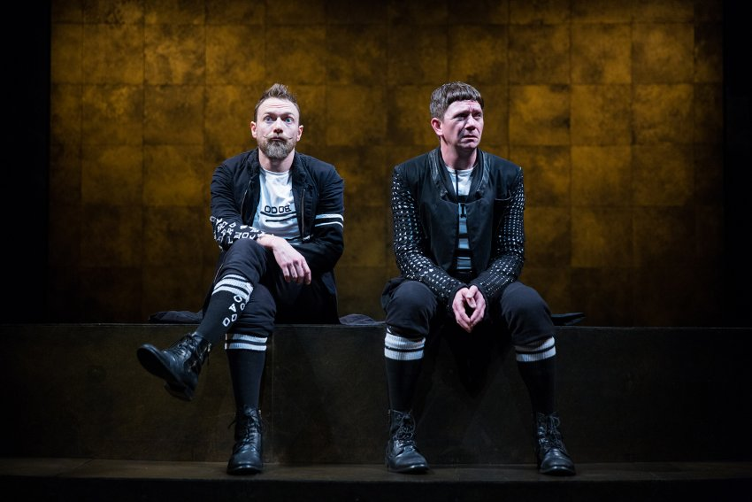 Keith Conallen and Jered McLenigan star as Rosencrantz and Guildenstern. Photo by Alexander Iziliaev.