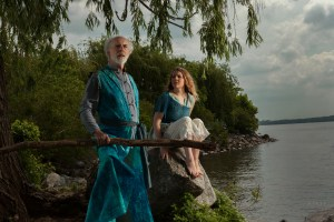 David Howey (Prospero) and Mary Beth Shrader (Miranda) in CCTC THE TEMPEST. Photo by Plate|3 Photography.