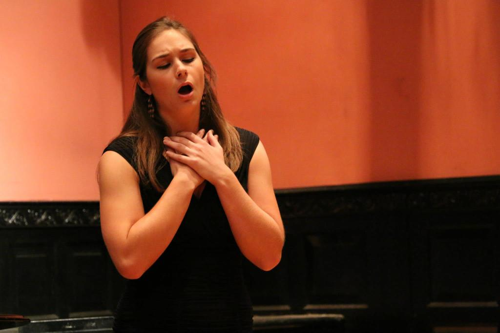 Erin Alford at a Master Class performance of Russian Opera Workshop 2015.