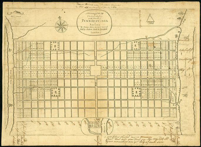 William Penn map of Philadelphia