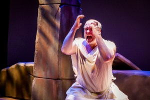 Nathan Foley in the title role of CCTC''s RAGE OF ACHILLES (Photo credit: Rebecca Gudelunas, Wide Eyed Studios)