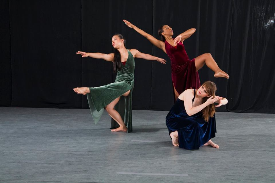 Dancefusion's Anhthi Maria Nguyen, Gabrielle Wright, and Kalila Kingsford Smith perform in INTO THE LIGHTS (Photo credit: Randl Bye)