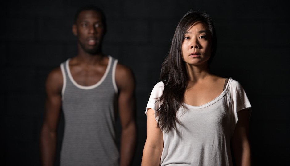 Ashton Carter (l) and Bi Jean Ngo in LIGHTS RISE ON GRACE. Photo by AustinArt.