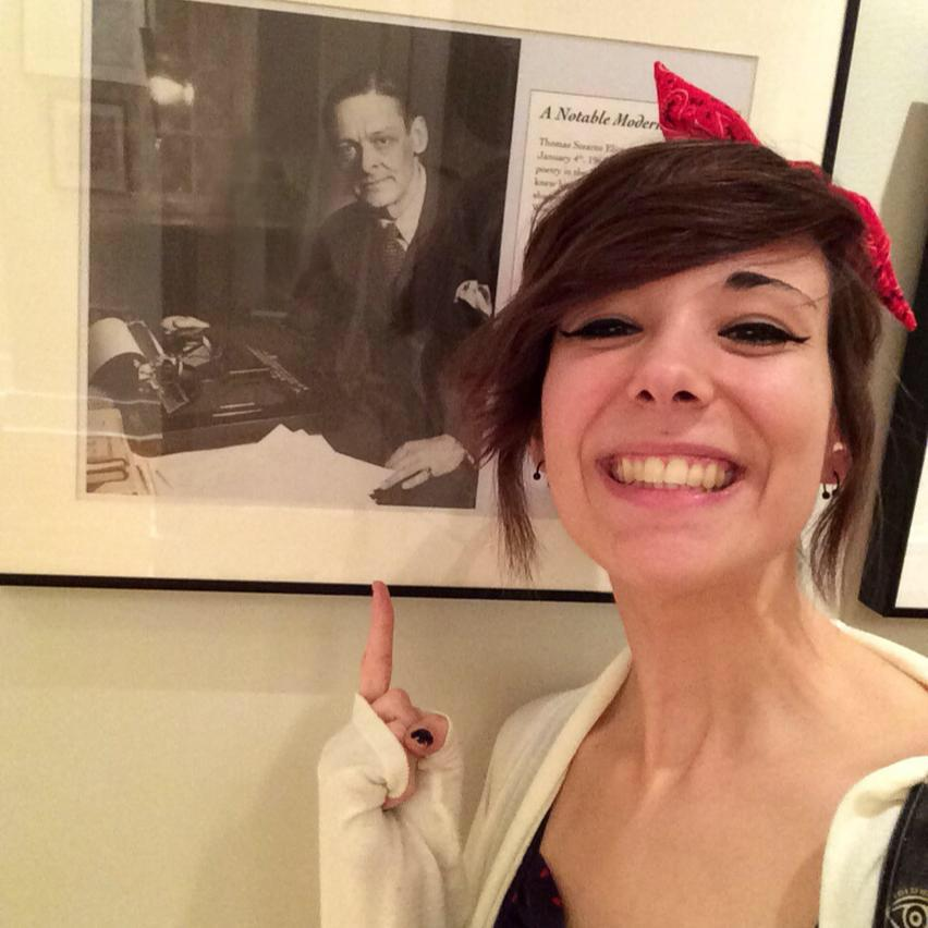 Allison Rickert at TS Eliot exhibition.