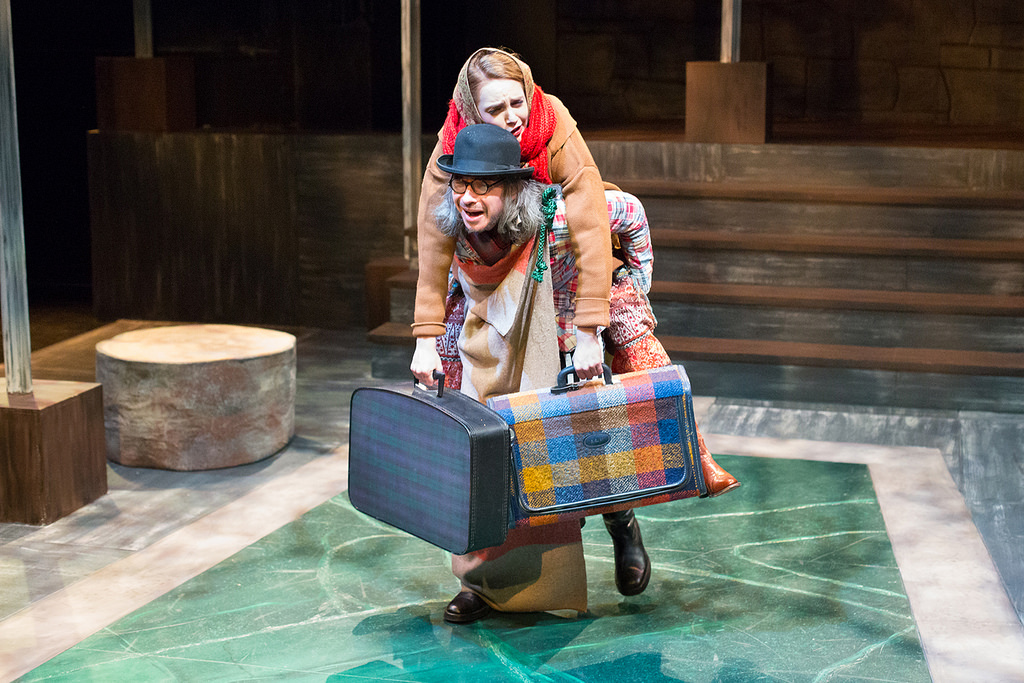 J Hernandez and Ruby Wolf in the Lantern's AS YOU LIKE IT (Photo credit: Mark Garvin)