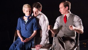 Mary Tuomanen, xx, and Ross Beschler in MACHINAL. Photo by Dave Sarrafian)