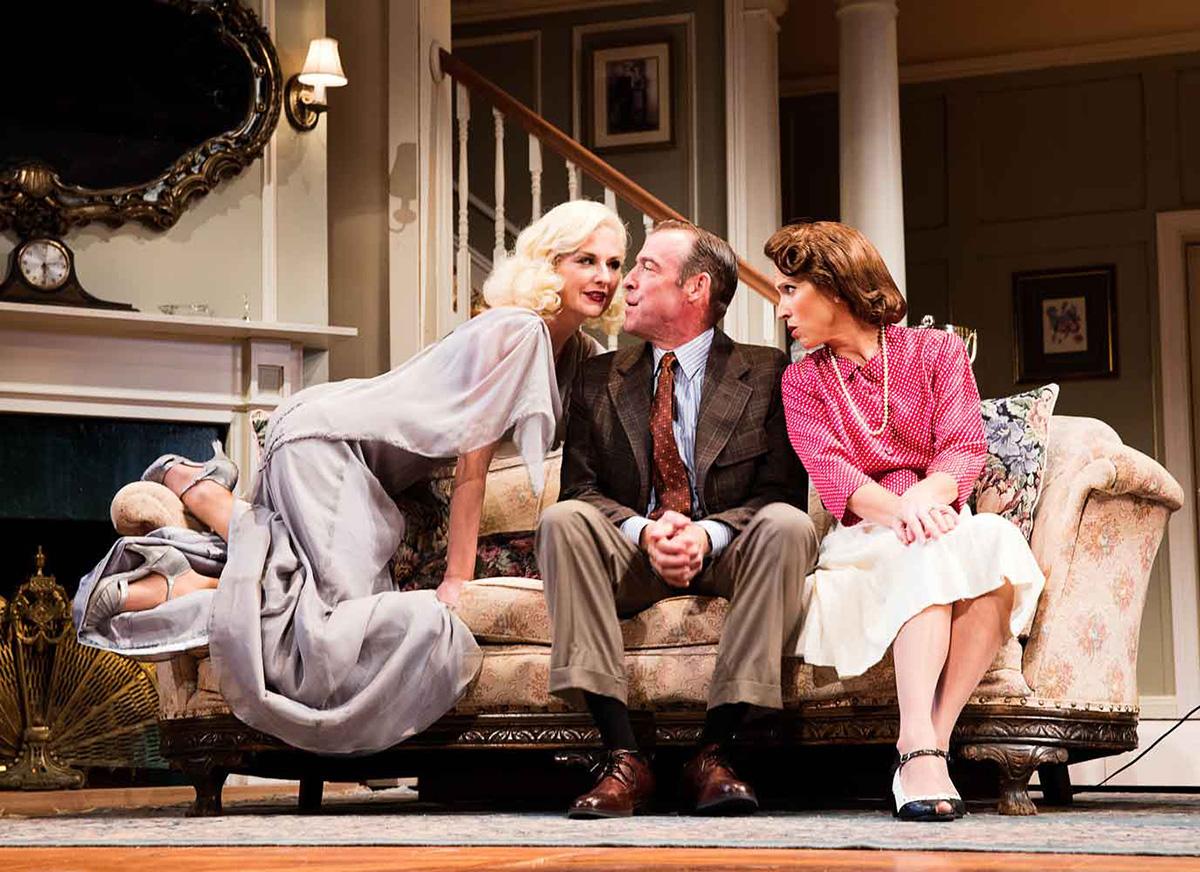 Eleanor Handley as Elvira, Ian Merrill Peaks as Charles, and Karen Peaks as Ruth. Photo by Lee A. Butz.