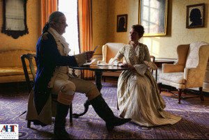 John Lopes as George Washington and Jennifer Summerfield as Elizabeth Powel in the Powel House. Photo by Kyle Cassidy.