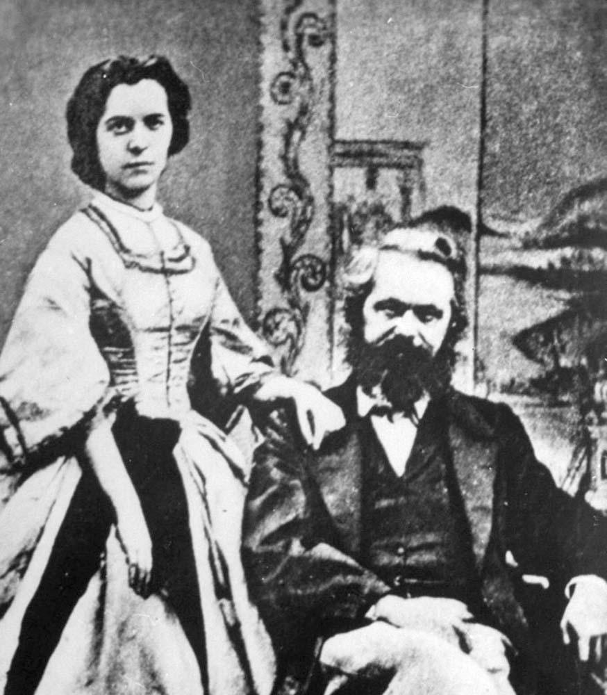 Karl Marx & his wife Jenny von Westphalen