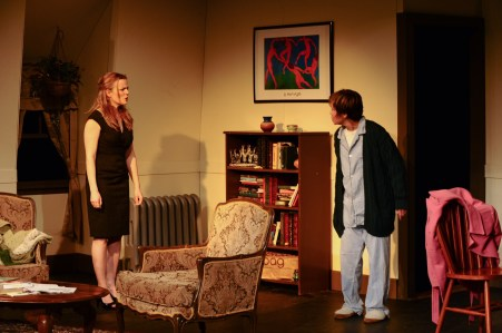 Kirsten Quinn as Lisa and Renee Richman-Weisband as Ruth face off in Isis Productions. Photo by Kristine DiGrigoli
