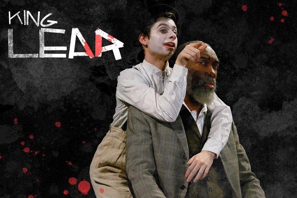DJ Gleason as the fool and Robert Jason Jackson as King Lear. Photo by Linda Johnson.